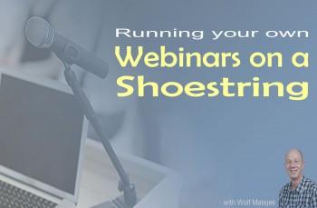 Running webinars on a shoestring