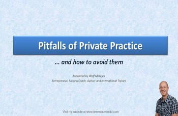 Pitfalls of Private Practice for Service Providers