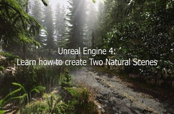 Unreal Engine 4 : Complete Creation of Two Natural Scenes