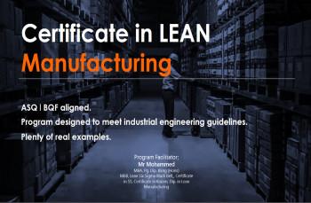 Certificate in Lean Manufacturing
