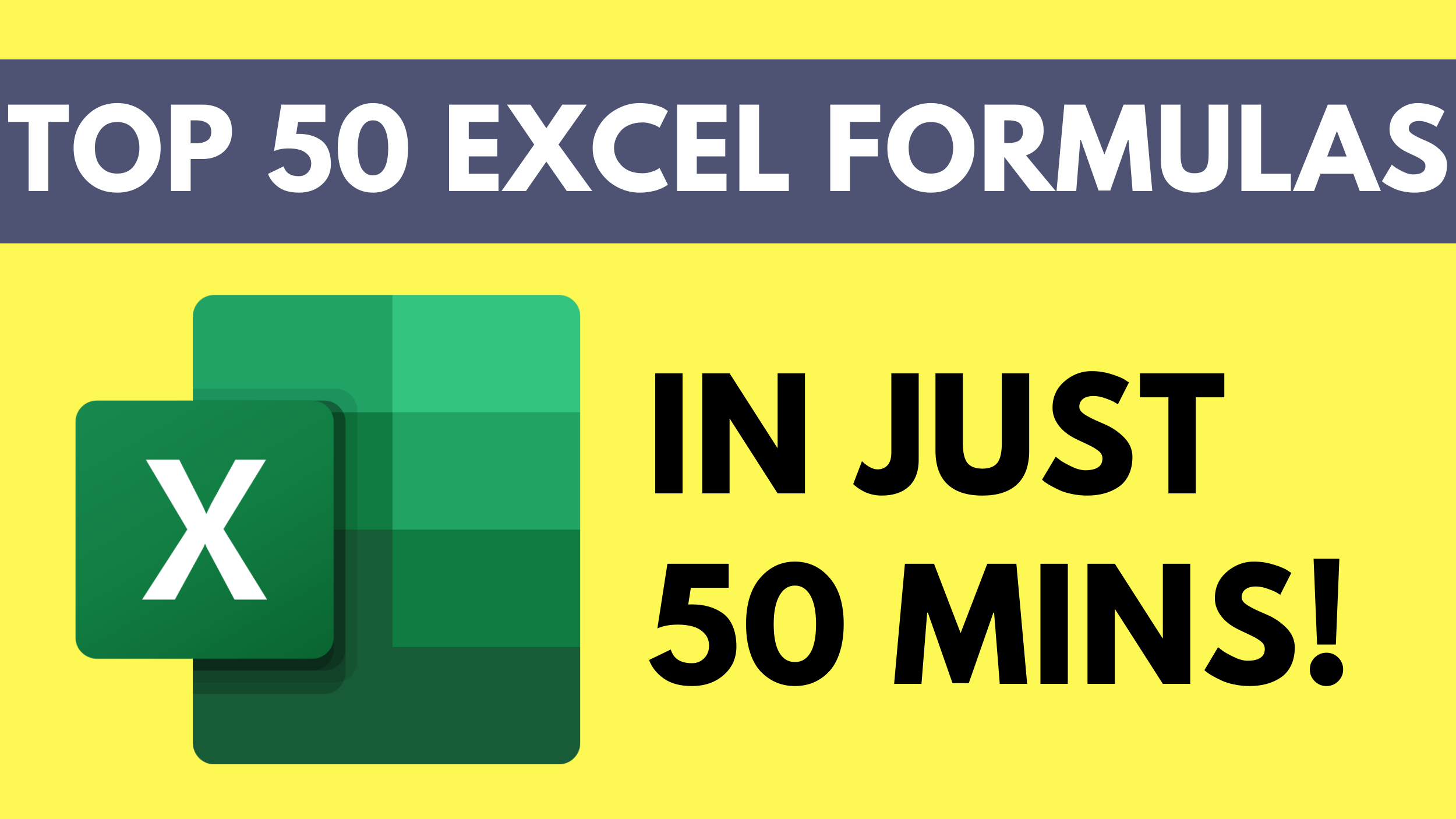 Master the Top 20 Excel Formulas and understand the essence of each fo