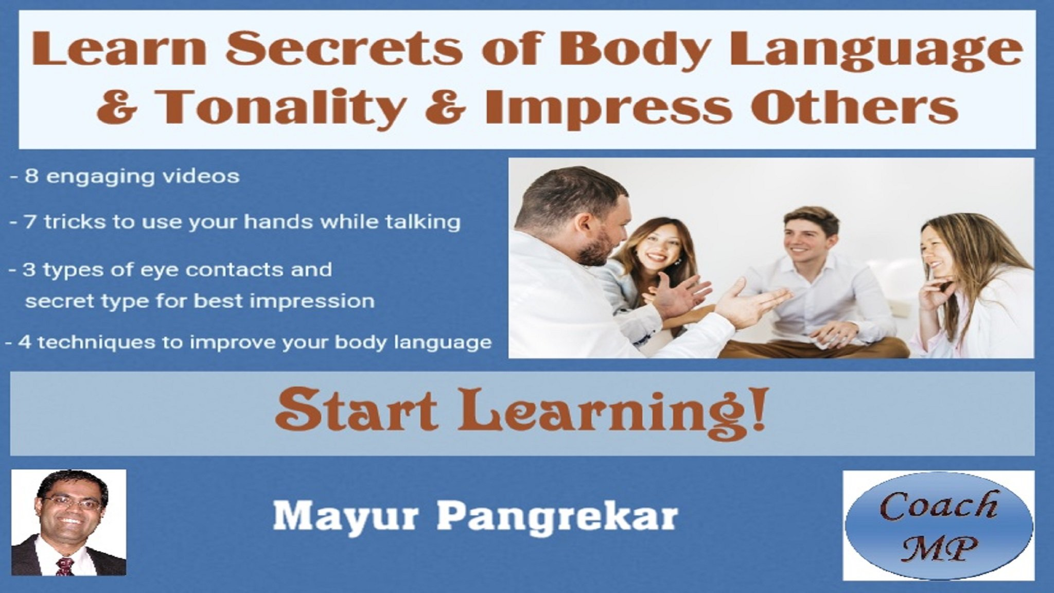 Learn Secrets of Body Language & Tonality & Impress Others