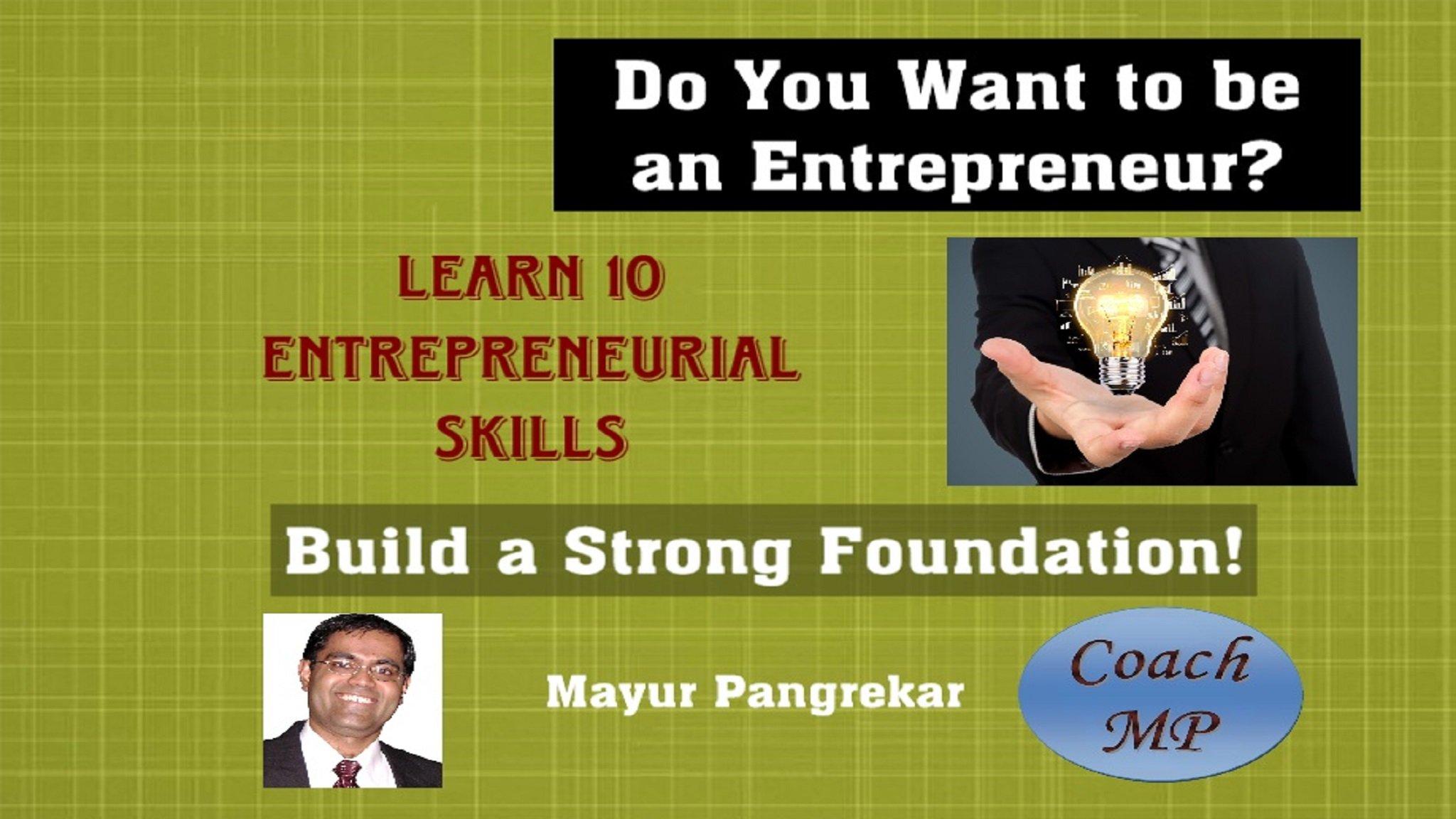 Learn 10 entrepreneurial skills fast