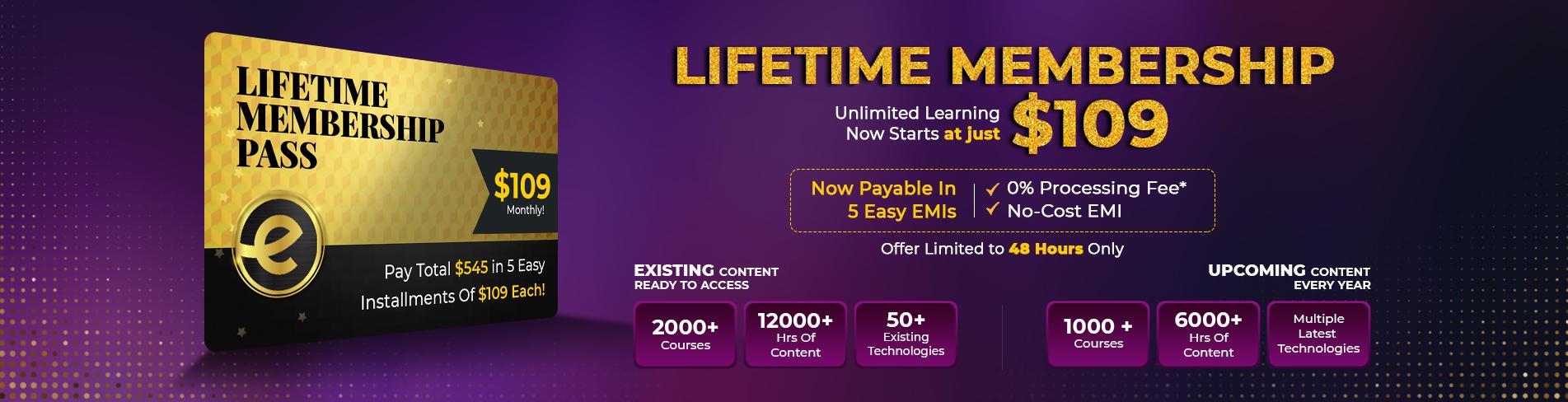 Eduonix lifetime learning access